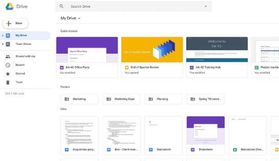 Google Drive переходит на новый дизайн вслед за Gmail