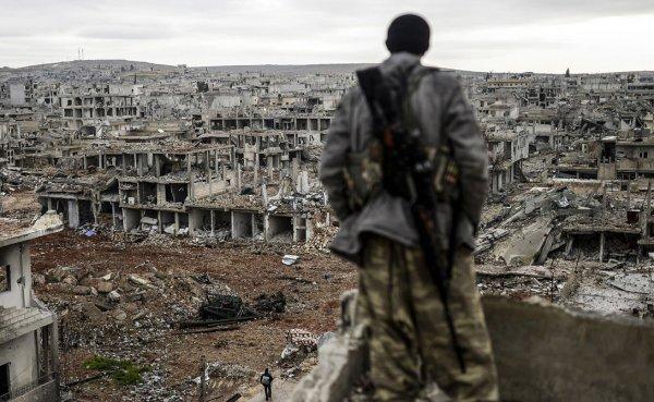 В Сети появились кадры ликвидации баз боевиков США в Сирии