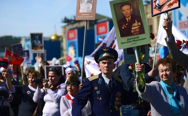 В Берлине состоялась акция «Бессмертный полк» в честь Дня Победы