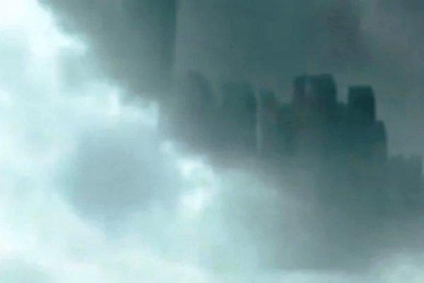 Портал в другое измерение: В небе над Китаем появился мегаполис-призрак