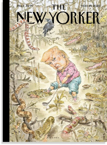 Трамп среди змей и жаб: Художник нарисовал карикатуру и объяснился