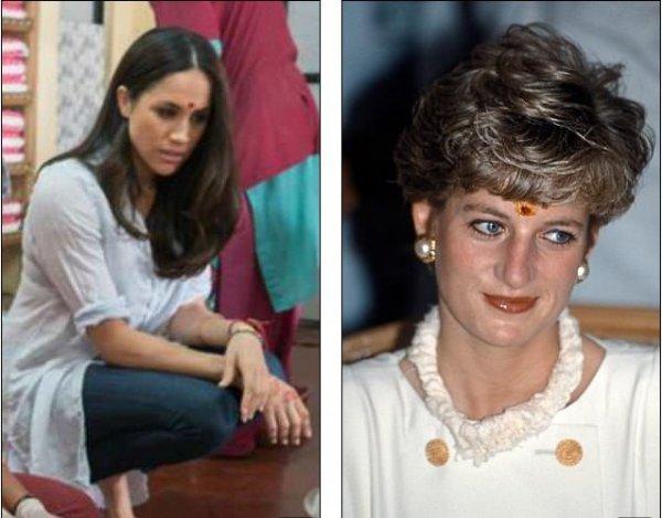 «Меган - новая Диана?»: Найдены поразительные сходства на фото Меган Маркл и принцессы Дианы
