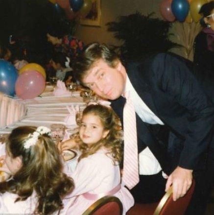 Дочь Дональда Трампа Иванка поделилась их архивными фото