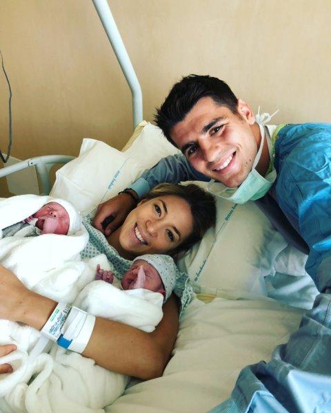 Альварро Морато из «Челси» стал отцом двойняшек