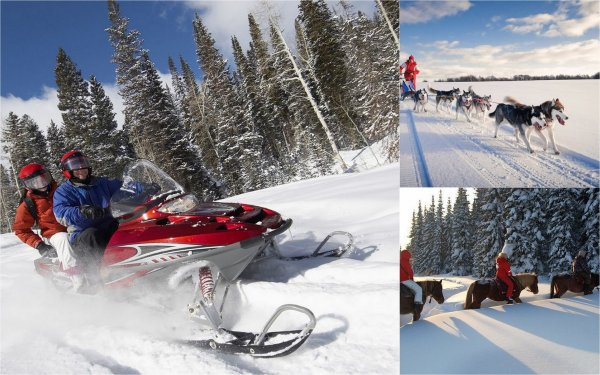 За снегом в Карелию: Лыжные туры и снегоходы притягивают россиян к Сямозеру