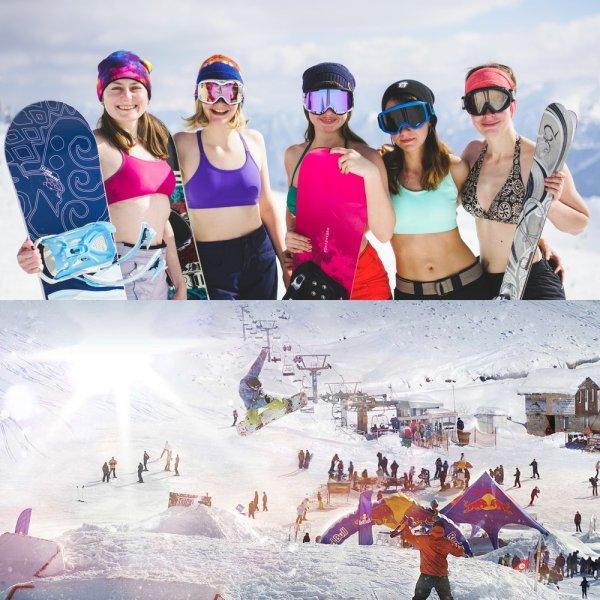 Дети точно не заболеют! Россияне нашли, где покататься на лыжах при +12° на улице