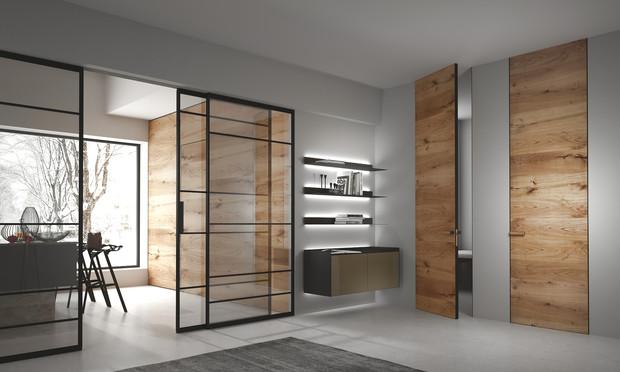 Двери и мебель в одном стиле, и другие комплексные интерьерные решения